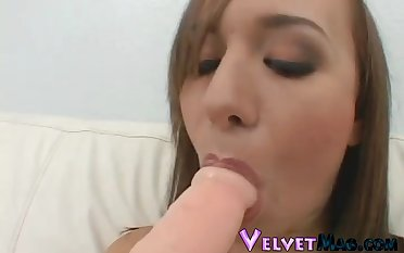 Jaclyn doggystyle screwed hardcore then swallowing cum