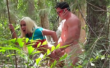Sex in the woods caught on cam by a horny voyeur