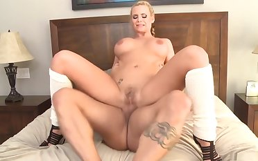 Horny pornstar Phoenix Marie in exotic tattoos, big tits adult scene
