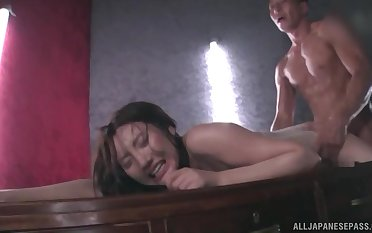 Japanese in lingerie Kashima Reina unperceived with oil and doggy fucked